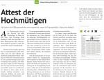 151213 Kleine Zeitung DAs Attest der Hochmütigen